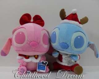 Christmas Baby Stitch Angel Plush Doll Set Lilo Disney Sega