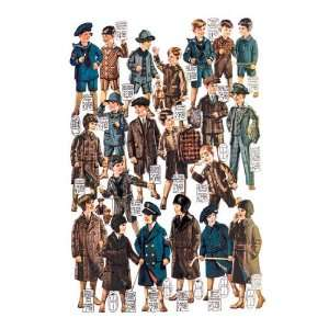 Little Boys Modeling Garments 12x18 Giclee on canvas Home
