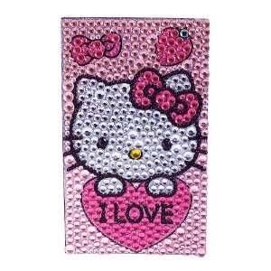 Hello Kitty Mobile Rhinestone Sticker Cover, Pink