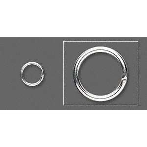 #11105 Jump Rings, silver plated, 7mm round, approximately