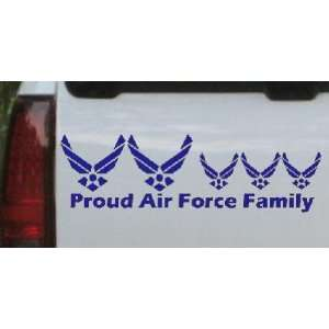 12in X 3.7in Blue    Proud Air Force Stick Family 3 Kids Stick Family