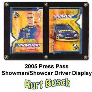 Press Pass Showman Showcar 05 Kurt Busch Driver Display