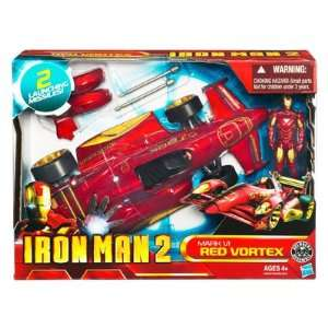Iron Man 2   3.75 Battle Vehicle   Mark VI Red Vortex Toys & Games