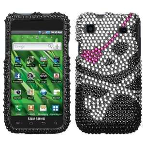 Sparkling Black Skull with Pink Eye Patch Design Full
