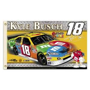 18211   KYLE BUSCH #18 2 Sided 3 Ft. X 5 Ft. Flag W