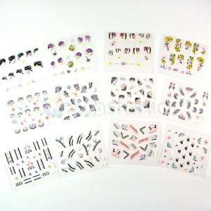 Easy Nail Art Stickers Decals Bundle Kit   Made in Japan High Quality