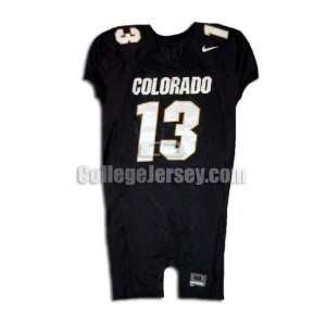 Black No. 13 Game Used Colorado Nike Football Jersey