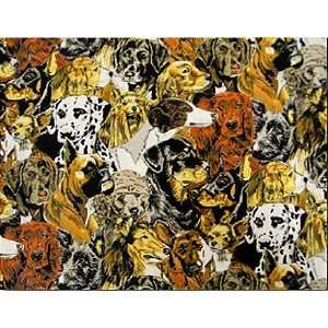 Dog Design Fabric 2yds 54 in Wide Arts, Crafts & Sewing