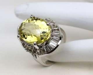 14K ORO VERDE BAGUETTE & ROUND DIAMOND BALLERINA RING