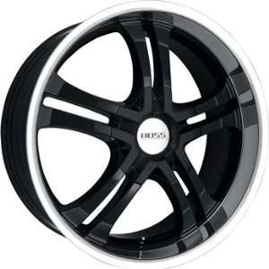 Boss 327 20x8.5 Black Wheel / Rim 6x115 with a 40mm Offset and a 82.80