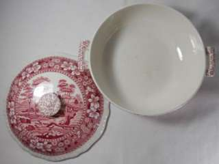 Pink Mini Covered Round Vegetable Bowl Older Backstamp(Crazed)