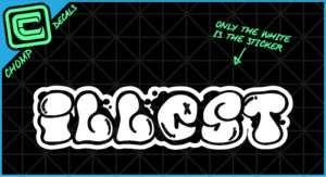 illest graffiti fatlace jdm drift import decal sticker