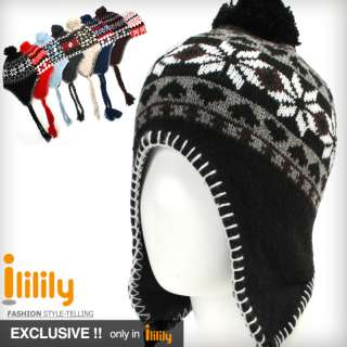 New Winter Beanie Skull Snowboard Ski Knit ear flap Hat