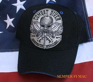 COMBAT DIVER HAT US ARMY NAVY AIR FORCE MARINES USCG