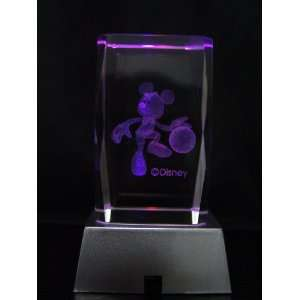 3D LASER ETCHED CRYSTAL DISNEY MICKEY MOUSE Everything
