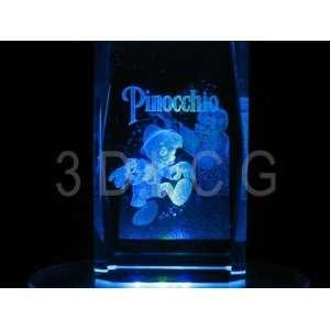 Disney Pinnochio 3D Laser Etched Crystal Everything Else