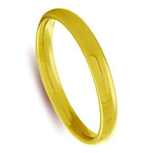 3mm 10k Yellow Gold Comfort Fit Wedding Band Ring Size 13
