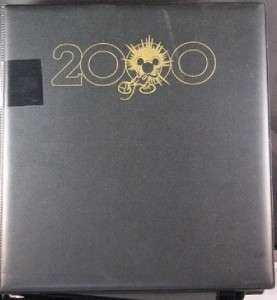Disney Pin Complete Set Countdown to Millennium 2000 w/ Binder Mickey