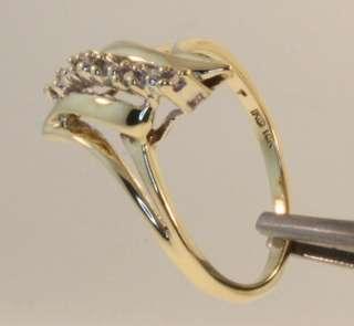 10K YELLOW GOLD DIAMOND RING 5 ROUND SINGLE CUT DIAMONDS VS CLARITY