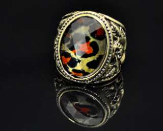 HOT Wild Leopard Print Bronze European Retro Ring F jj 0502