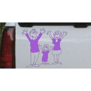 Purple 12in X 10.4in    Mom Dad Daughter Family Decal Stick Family Car