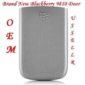 New TMobile RIM Blackberry 9810 Zinc Grey Silver Door Back Cover Torch