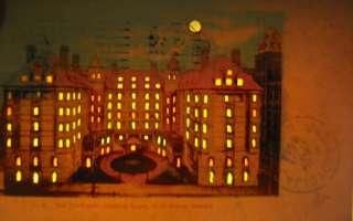 Old 1905 THE PORTLAND Hotel   Oregon   HOLD TO LIGHT   POSTCARD   HTL