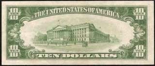 1934 C $10 DOLLAR BILL SILVER CERTIFICATE BLUE SEAL NOTE Fr 1704 CH