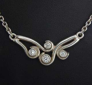 beautiful sterling silver Pandora Ocean Waves necklace in box with