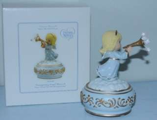 Precious Moments Figurine Trumpeting Angel Musical 2009 New in Box