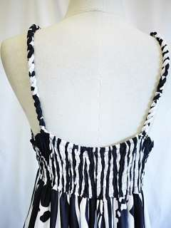 New Womens Black White Casual Party Summer Long Maxi Dress XL XXL 3XL