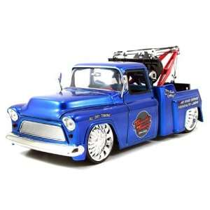 1955 Chevy Stepside Tow Truck 124 Scale (Blue) Toys