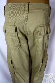 LEVIS JEANS British Tan Cargo Loose Fit Straight Leg Mens Pants New