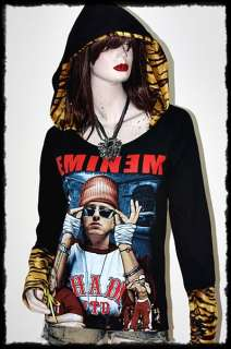 Eminem Punk Metal Rock DIY Slash Hoodie Top US8,10