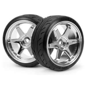 HPI Racing 4704 Mounted Super Drift Tire (A Type) on Te37