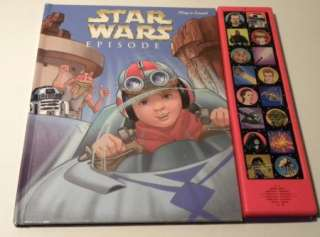 1999 PLAY A SOUND STAR WARS EPISODE 1 HARDCOVER