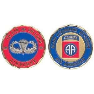 U.S. Army 82nd Airborne Division Challenge Coin
