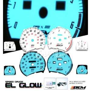 95 99 Saturn SL1 Indiglo Glow Gauge Face: Automotive