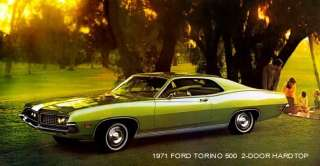 1971 FORD TORINO 500 ~ 2 DOOR HARDTOP(GREEN) MAGNET