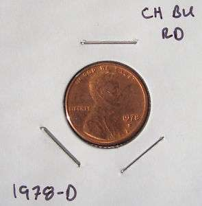 1978 D Lincoln Memorial One Cent Penny Small Cent BU