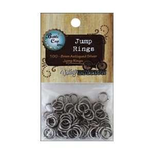 Bottle Caps Vintage Collection Jump Rings 8mm 100/Pkg Silver; 5 Items