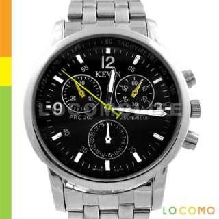 Men Black Fashion Design Stainless Steel Sport Watch