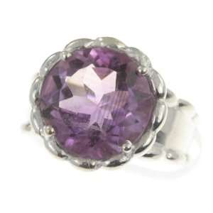 925 Sterling Silver NATURAL AMETHYST Ring, Size 5.5, 6.93g Jewelry