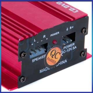 2CH 75W Car Hi Fi Stereo Audio Amplifier Motorcycle/MP3