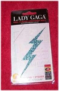 LADY GAGA Sparkling Lightning Bolt Sticker