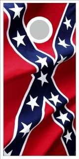 Rebel Flag Cornhole game decal wrap
