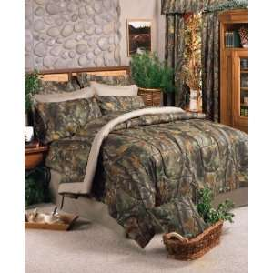 Realtree Hardwoods Camo 8 Pc Queen Bed in Bag Comforter