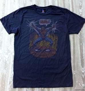 Junk Food Marvel Comics Spider man Yaaah Adult Shirt S XL