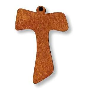 New Wooden Tau Cross Christian Catholic Pendant Medal Charm Religious