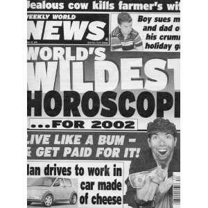 Weekly World News JEALOUS COW KILLS FARMERS WIFE! & MAN